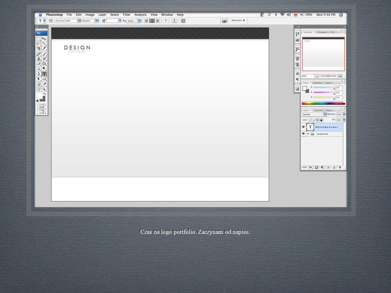 Czas na logo portfolio. Zaczynam od napisu.