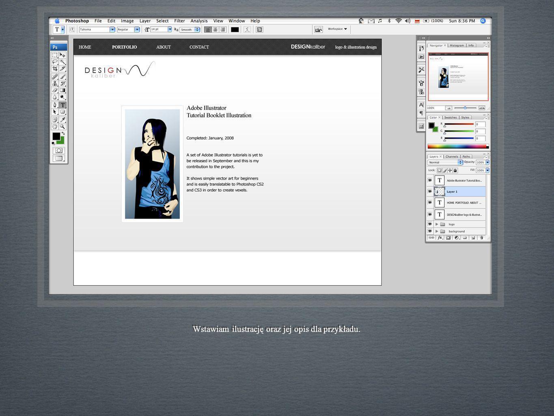 Wstawiam ilustrację oraz jej opis dla przykładu.