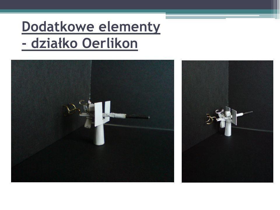 Dodatkowe elementy - działko Oerlikon
