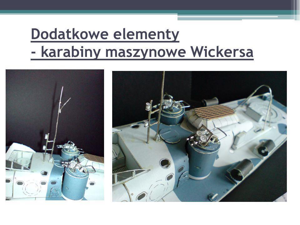Dodatkowe elementy - karabiny maszynowe Wickersa