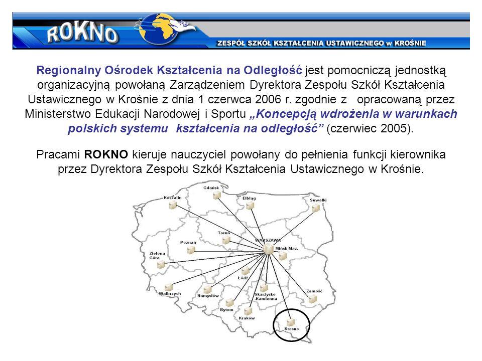 Pracami ROKNO kieruje nauczyciel powołany do pełnienia funkcji kierownika przez Dyrektora Zespołu Szkół Kształcenia Ustawicznego w Krośnie.