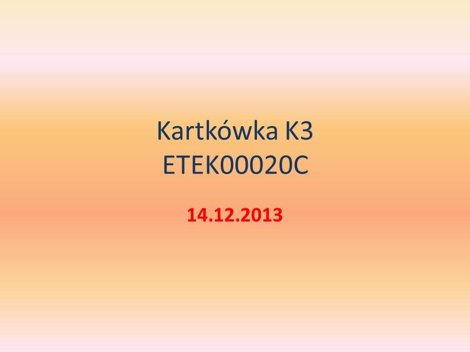 Kartkówka K3 ETEK00020C 14.12.2013