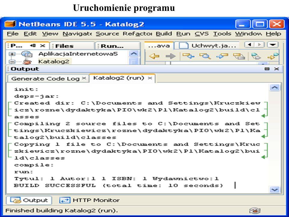 PIO 2_2, Zofia Kruczkiewicz13 Uruchomienie programu