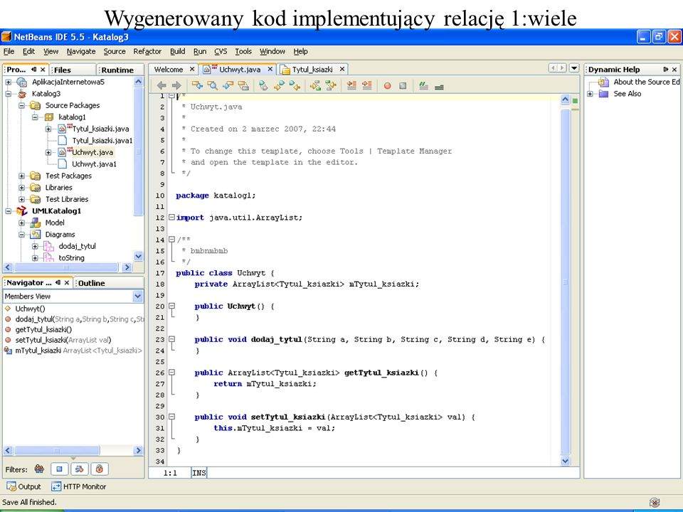 PIO 2_2, Zofia Kruczkiewicz16 Wygenerowany kod implementujący relację 1:wiele