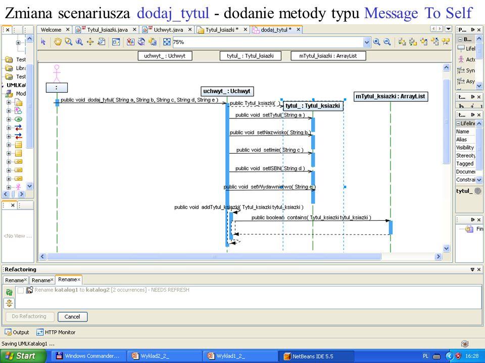 PIO 2_2, Zofia Kruczkiewicz18 Zmiana scenariusza dodaj_tytul - dodanie metody typu Message To Self