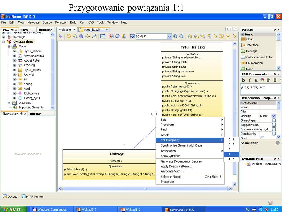 PIO 2_2, Zofia Kruczkiewicz2 Przygotowanie powiązania 1:1
