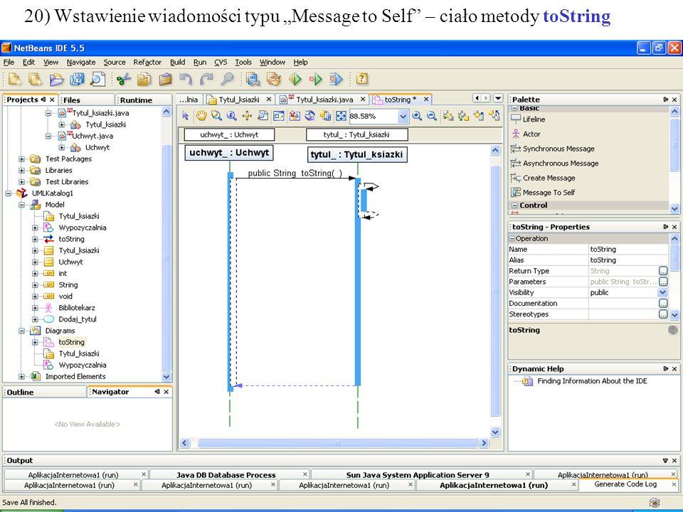 PIO. Autor -Zofia Kruczkiewicz37 21) Kojarzenie wiadomości z konkretną metodą klasy Tytul_ksiazki