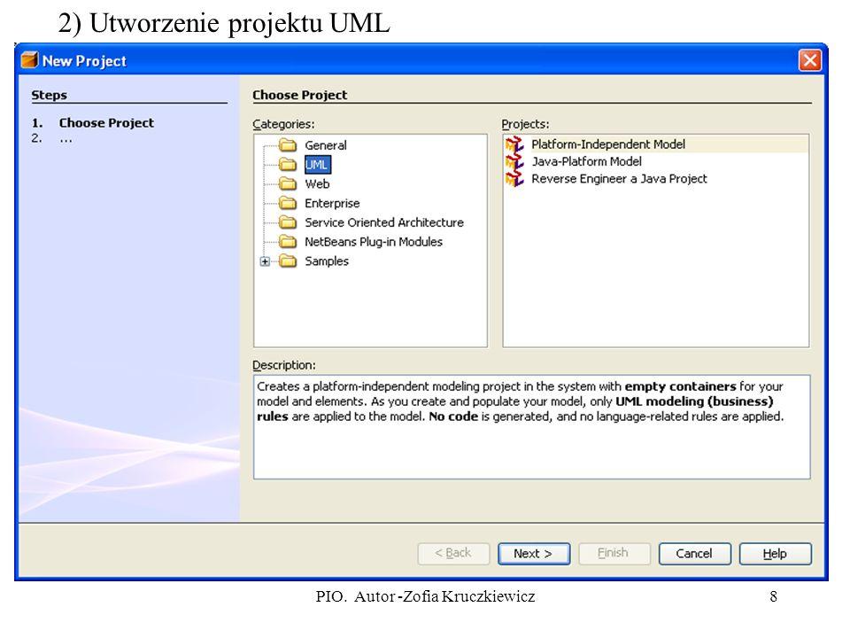 8 2) Utworzenie projektu UML