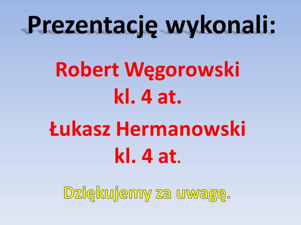 Prezentację wykonali: Robert Węgorowski kl. 4 at. Łukasz Hermanowski kl. 4 at.