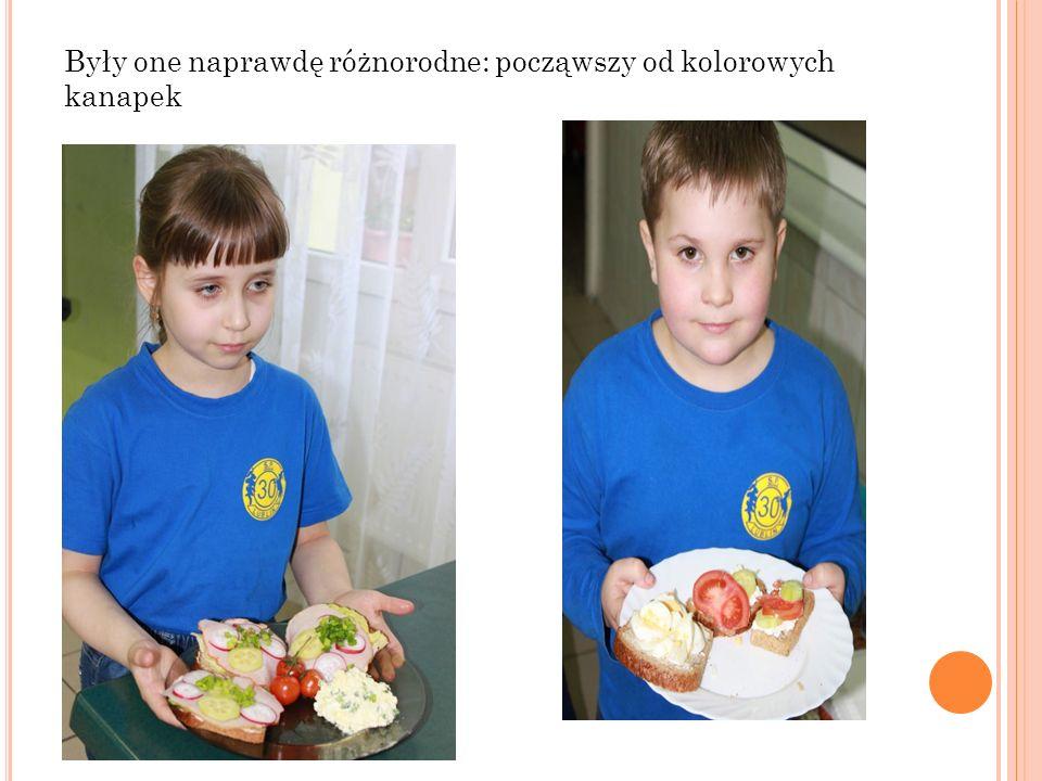 Były one naprawdę różnorodne: począwszy od kolorowych kanapek