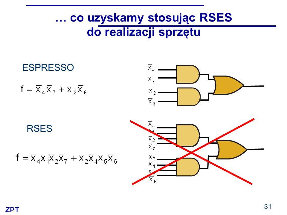 ZPT 31 … co uzyskamy stosując RSES do realizacji sprzętu RSES ESPRESSO