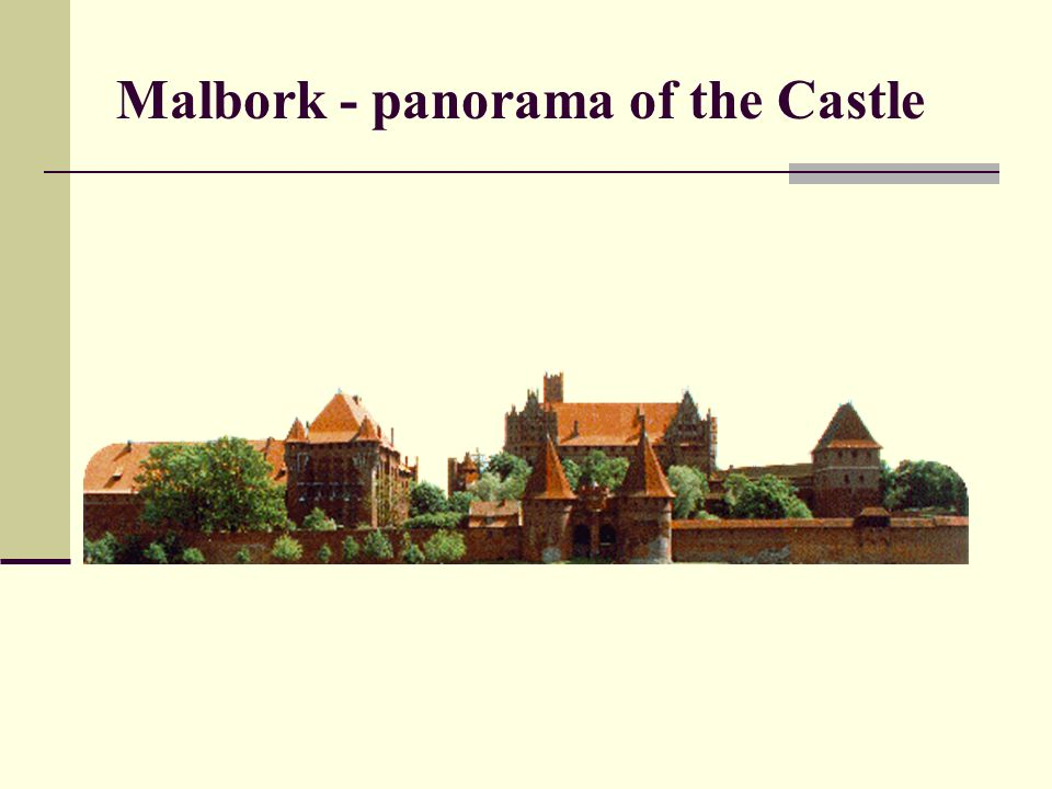 Malbork - panorama of the Castle