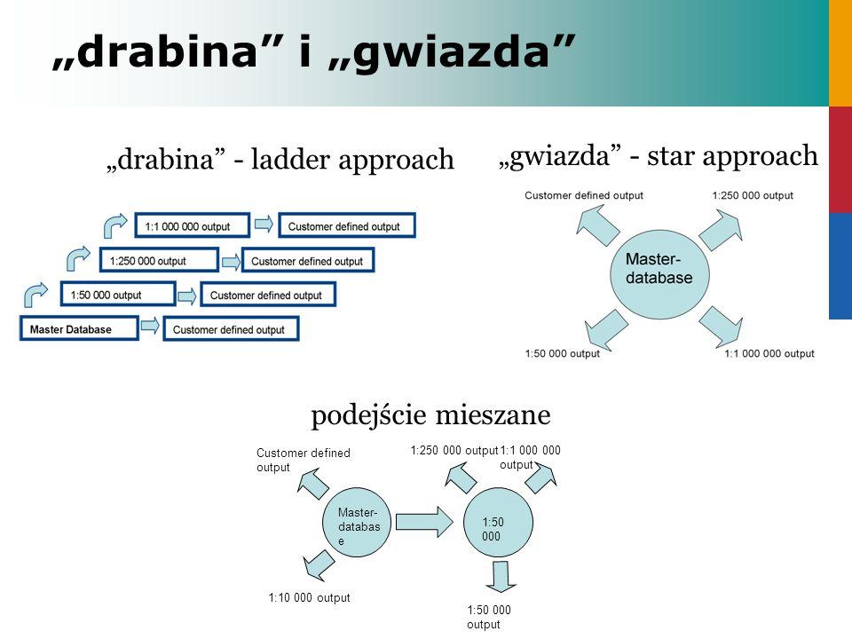 drabina i gwiazda gwiazda - star approach drabina - ladder approach 1:1 000 000 output Customer defined output 1:10 000 output 1:50 000 output 1:250 0
