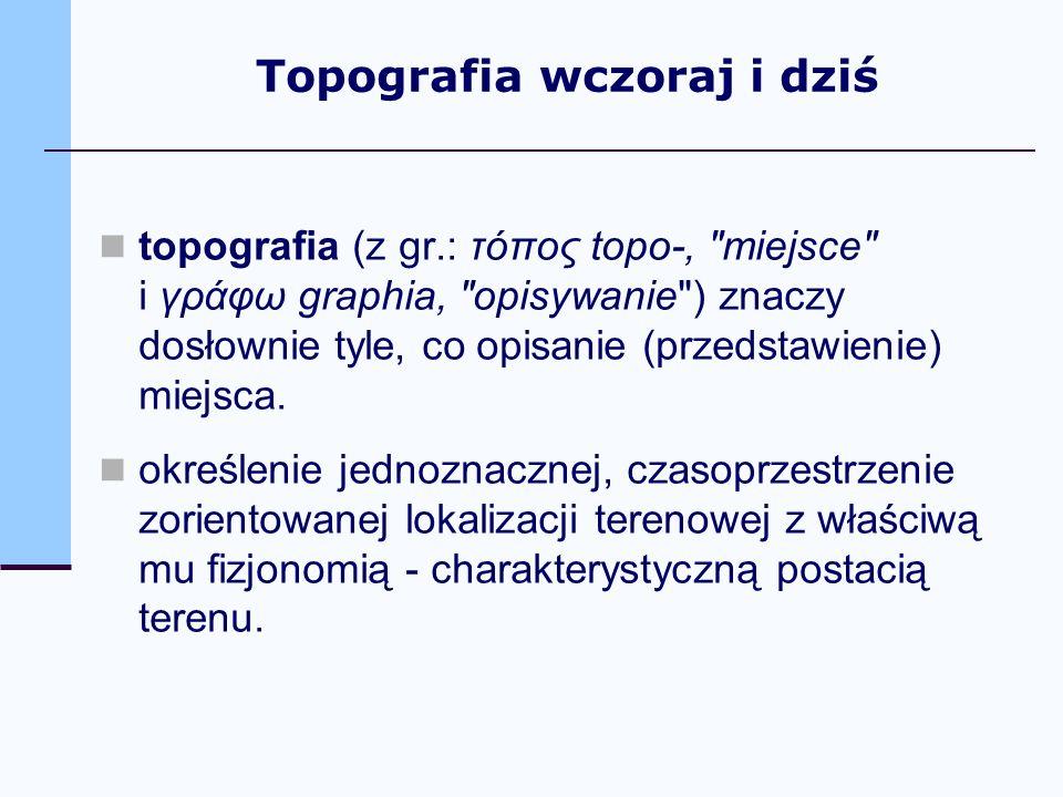 topografia (z gr.: τόπος topo-,