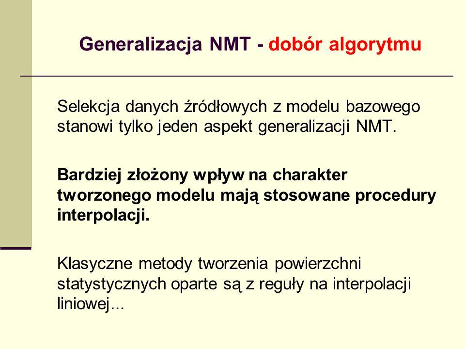 Generalizacja NMT - dobór algorytmu Selekcja danych źródłowych z modelu bazowego stanowi tylko jeden aspekt generalizacji NMT.
