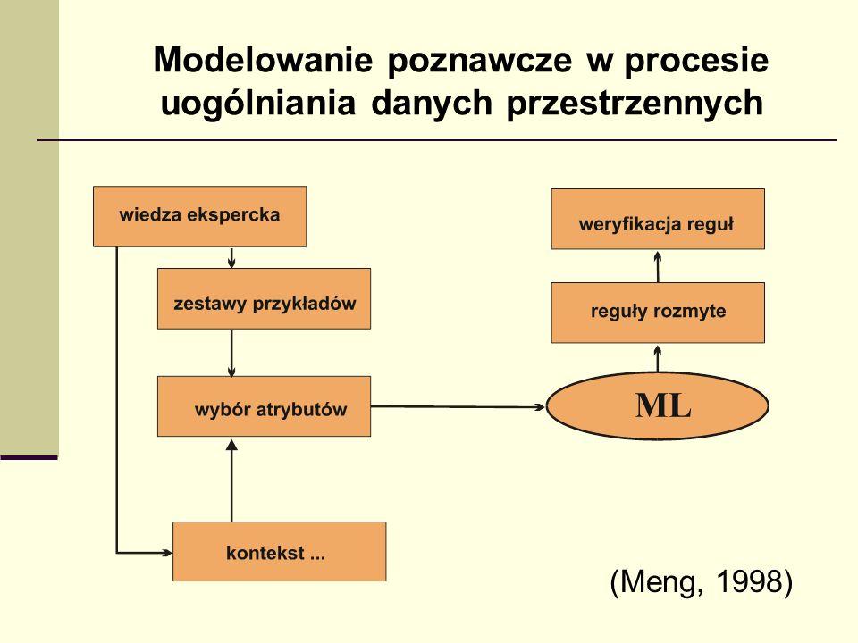 Modelowanie poznawcze w procesie uogólniania danych przestrzennych (Meng, 1998)