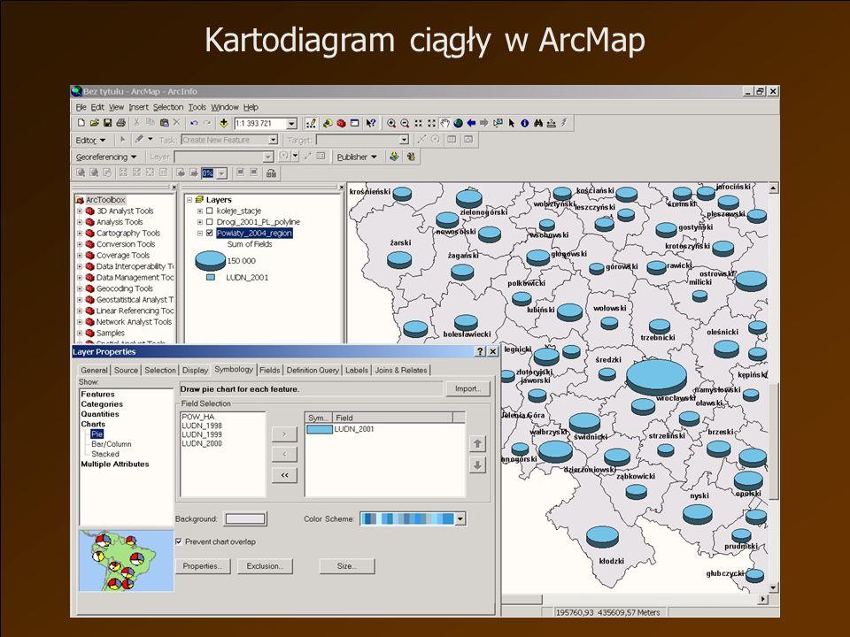Kartodiagram ciągły w ArcMap