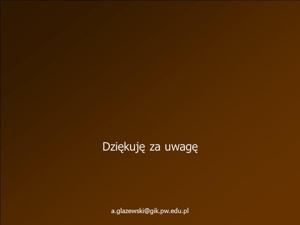 Dziękuję za uwagę a.glazewski@gik.pw.edu.pl