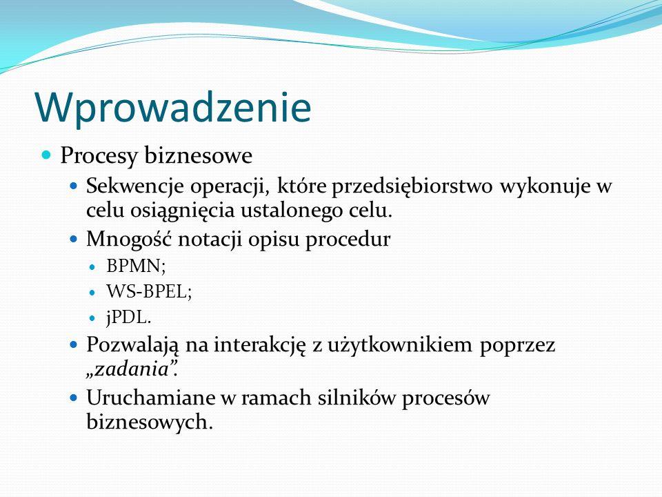 Wprowadzenie Przykładowy proces biznesowy Źródło: Marcin Sałaciński, Modelowanie procesów biznesowych
