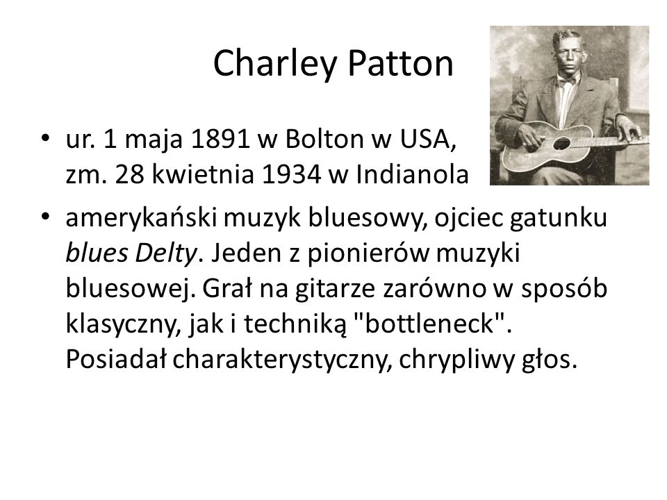 Tommy Johnson ur.1896 w Terry, Missisipi, USA, zm.