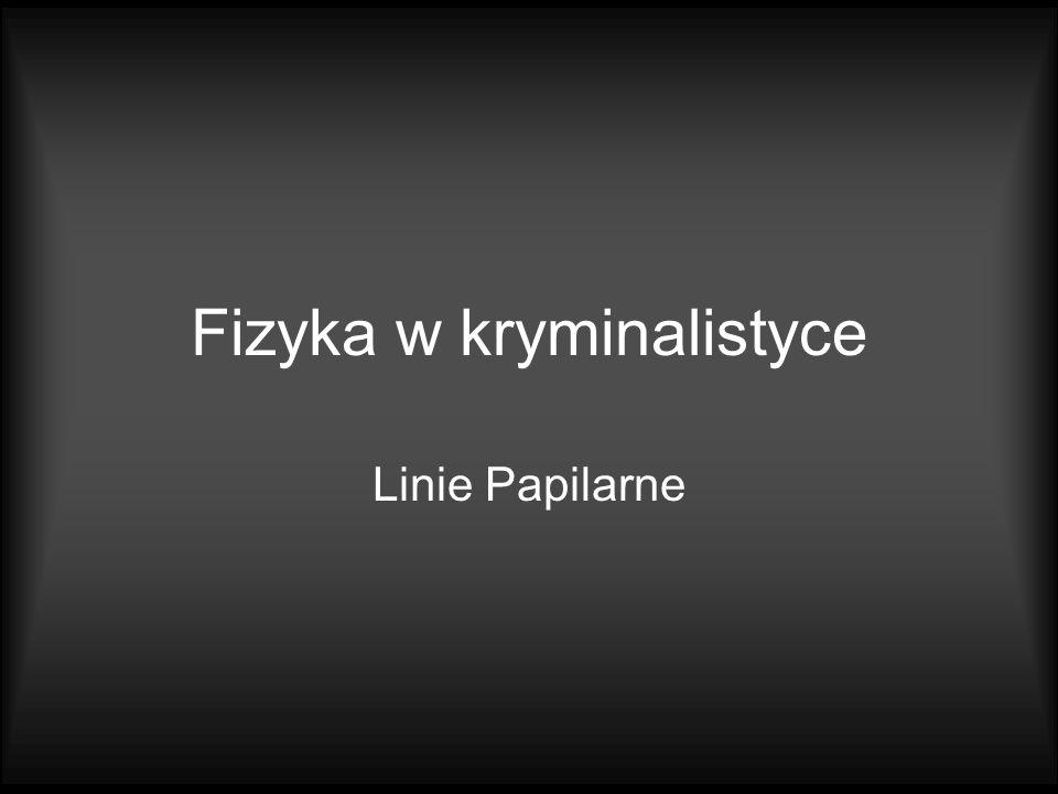Fizyka w kryminalistyce Linie Papilarne