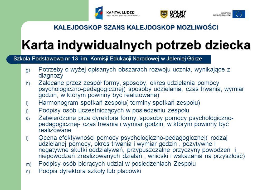 KALEJDOSKOP SZANS KALEJDOSKOP MOZLIWOŚCI Szkoła Podstawowa nr 13 im.