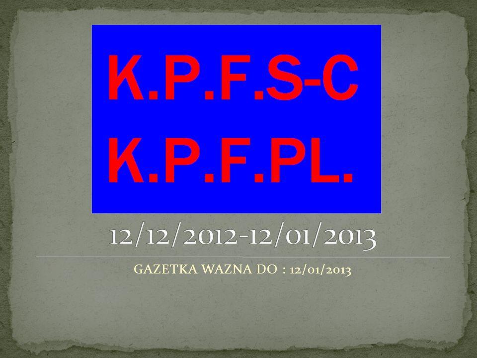 1.21/12/2012 CZY TO PRAWDA CZY MIT 2. NOWY CZENIK BILETÓW 3.