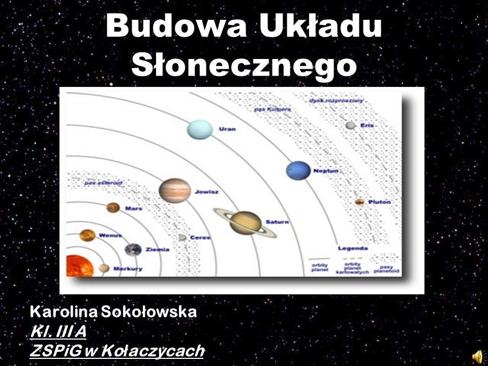 Budowa Układu Słonecznego Karolina Soko ł owska Kl. III A ZSPiG w Ko ł aczycach