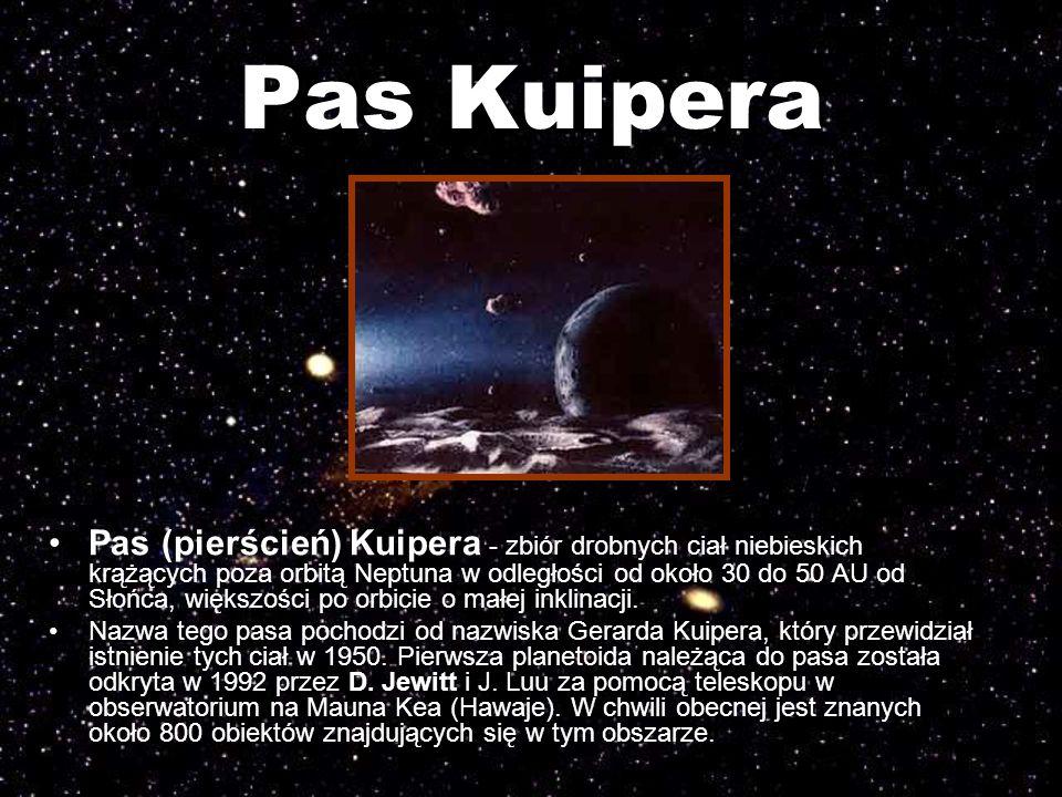 Pas Kuipera Pas (pierścień) Kuipera - zbiór drobnych ciał niebieskich krążących poza orbitą Neptuna w odległości od około 30 do 50 AU od Słońca, więks