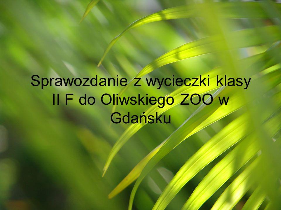 Sprawozdanie z wycieczki klasy II F do Oliwskiego ZOO w Gdańsku