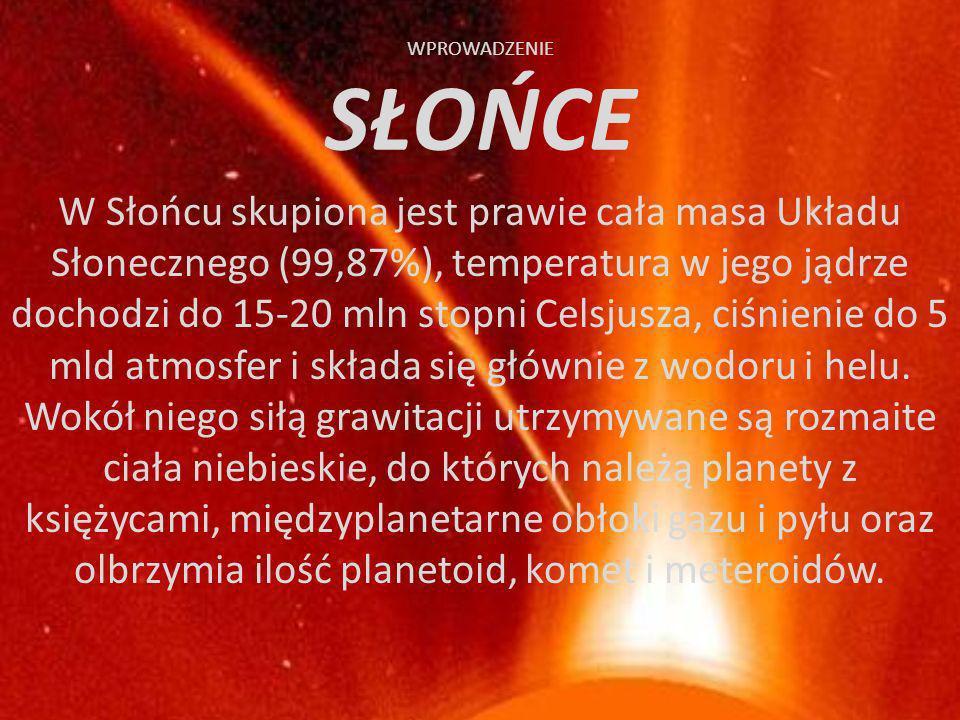 SPIS TREŚCI c.d. 11. Saturn 12. Uran 13. Neptun 14. Pluton 15. Kolejne elementy układu słonecznego 16. Planetoidy 17. Komety 18. Meteoryty 19. Podsumo