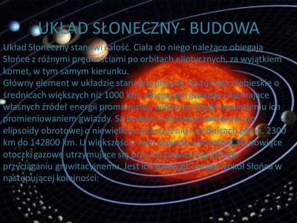 WPROWADZENIE SŁOŃCE W Słońcu skupiona jest prawie cała masa Układu Słonecznego (99,87%), temperatura w jego jądrze dochodzi do 15-20 mln stopni Celsju