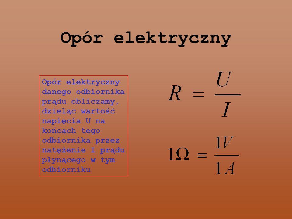 Napięcie w obwodzie prądu elektrycznego Napięciem elektrycznym U nazywamy wielkość fizyczną, której miarą jest stosunek pracy W wykonanej przez siły p