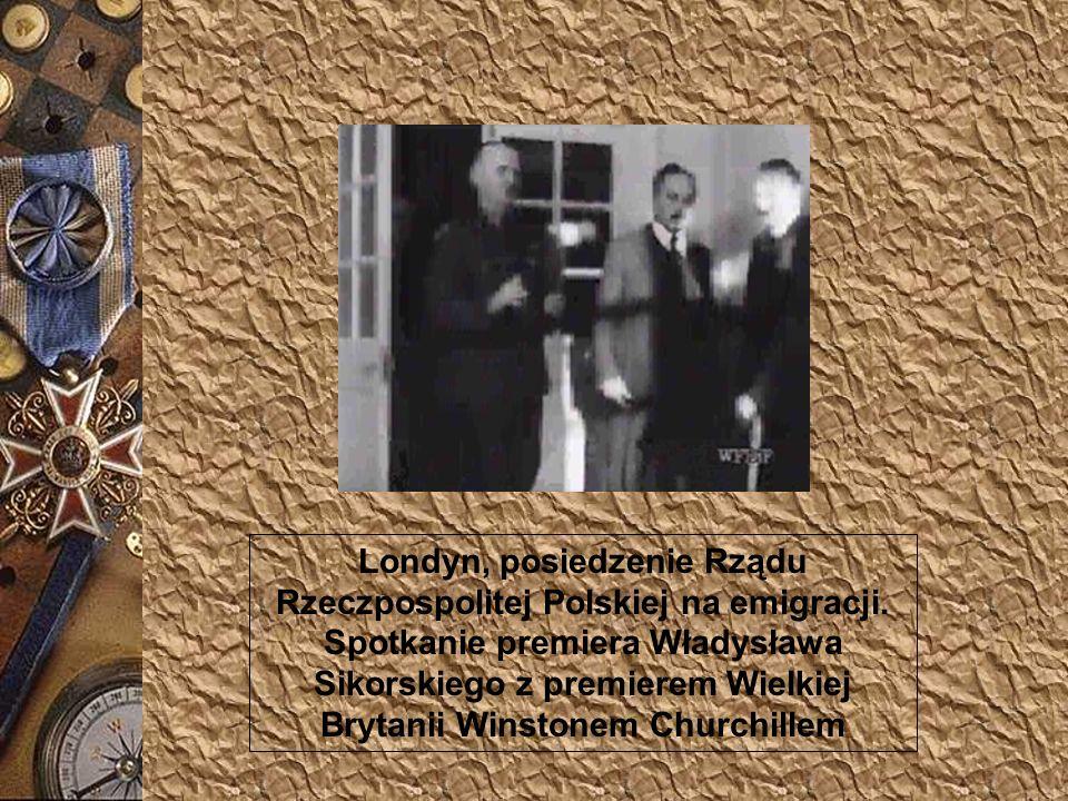 Londyn, posiedzenie Rządu Rzeczpospolitej Polskiej na emigracji.