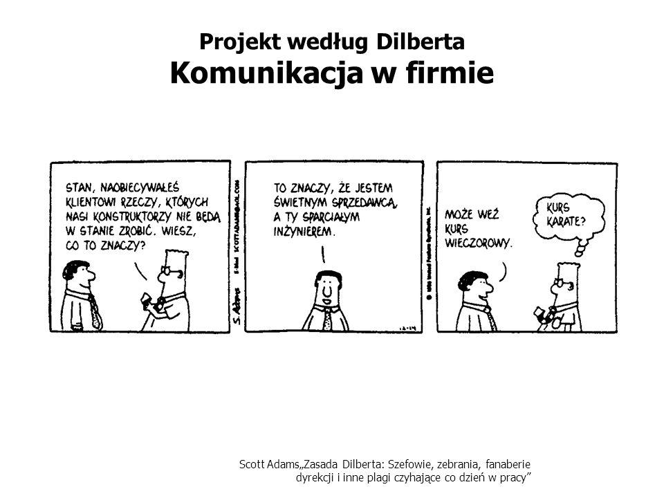 Scott AdamsZasada Dilberta: Szefowie, zebrania, fanaberie dyrekcji i inne plagi czyhające co dzień w pracy Projekt według Dilberta Komunikacja w firmi