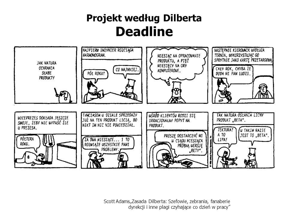 Scott AdamsZasada Dilberta: Szefowie, zebrania, fanaberie dyrekcji i inne plagi czyhające co dzień w pracy Projekt według Dilberta Deadline