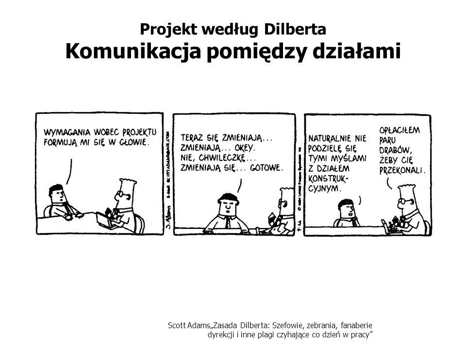 Scott AdamsZasada Dilberta: Szefowie, zebrania, fanaberie dyrekcji i inne plagi czyhające co dzień w pracy Projekt według Dilberta Komunikacja pomiędz