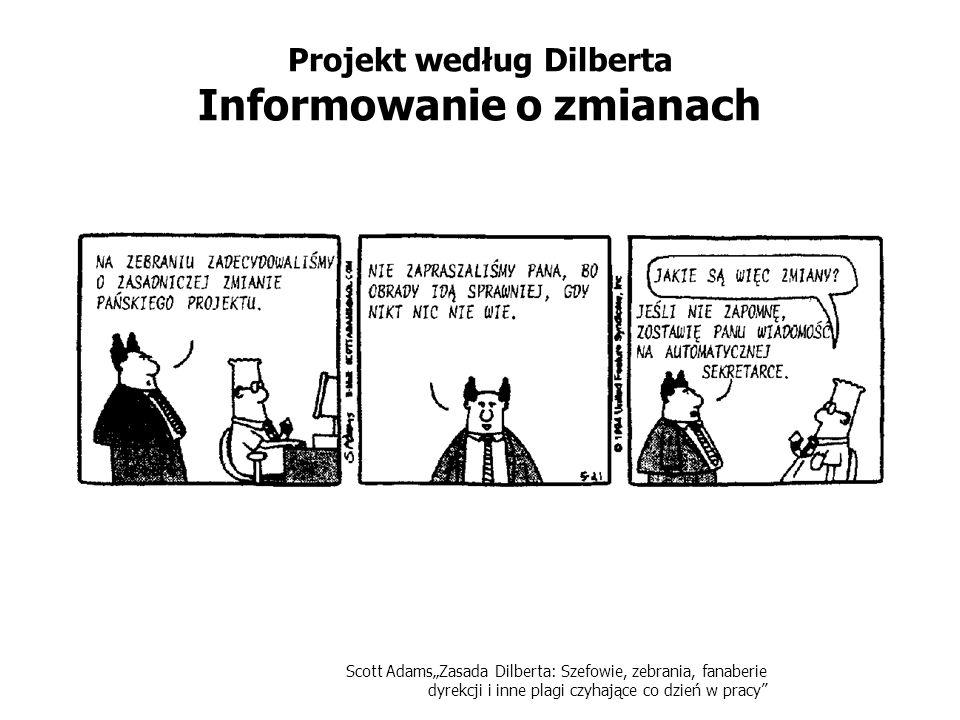 Scott AdamsZasada Dilberta: Szefowie, zebrania, fanaberie dyrekcji i inne plagi czyhające co dzień w pracy Projekt według Dilberta Informowanie o zmia