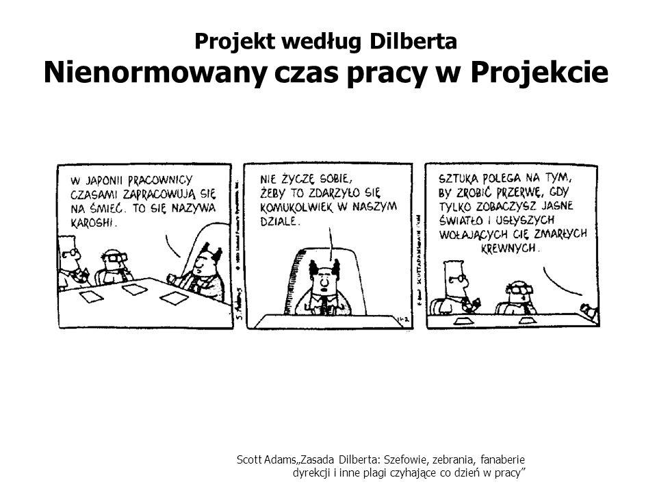 Scott AdamsZasada Dilberta: Szefowie, zebrania, fanaberie dyrekcji i inne plagi czyhające co dzień w pracy Projekt według Dilberta Nienormowany czas p
