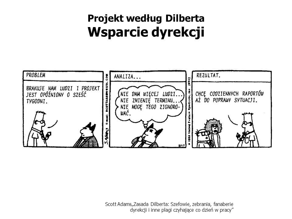 Scott AdamsZasada Dilberta: Szefowie, zebrania, fanaberie dyrekcji i inne plagi czyhające co dzień w pracy Projekt według Dilberta Nienormowany czas pracy w Projekcie