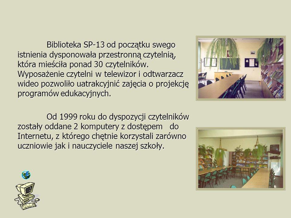 Biblioteka SP-13 od początku swego istnienia dysponowała przestronną czytelnią, która mieściła ponad 30 czytelników.
