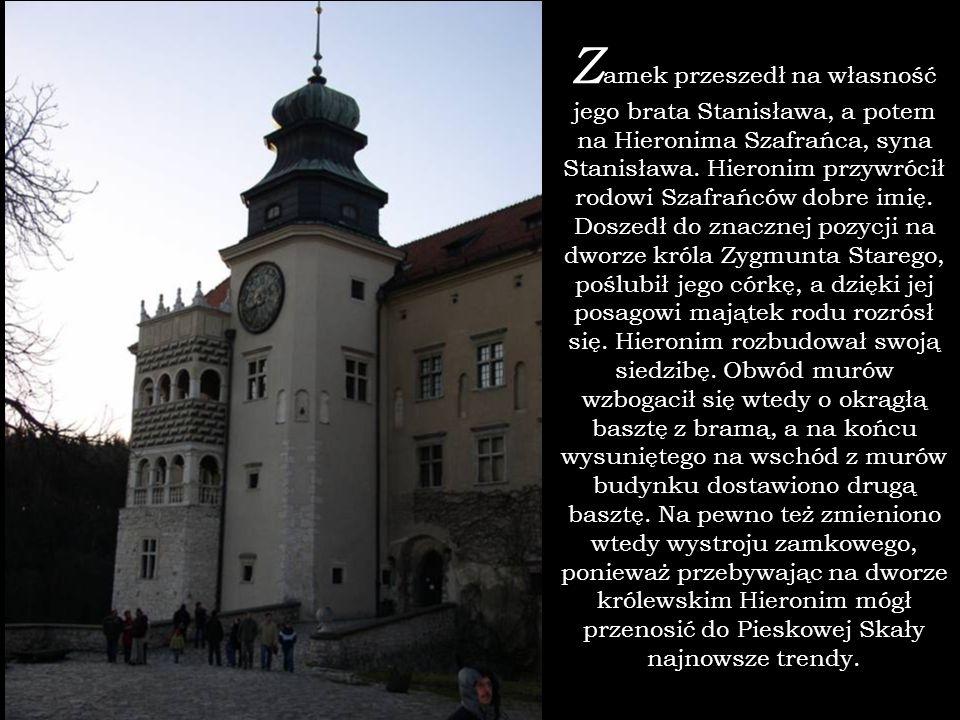 Z amek przeszedł na własność jego brata Stanisława, a potem na Hieronima Szafrańca, syna Stanisława. Hieronim przywrócił rodowi Szafrańców dobre imię.