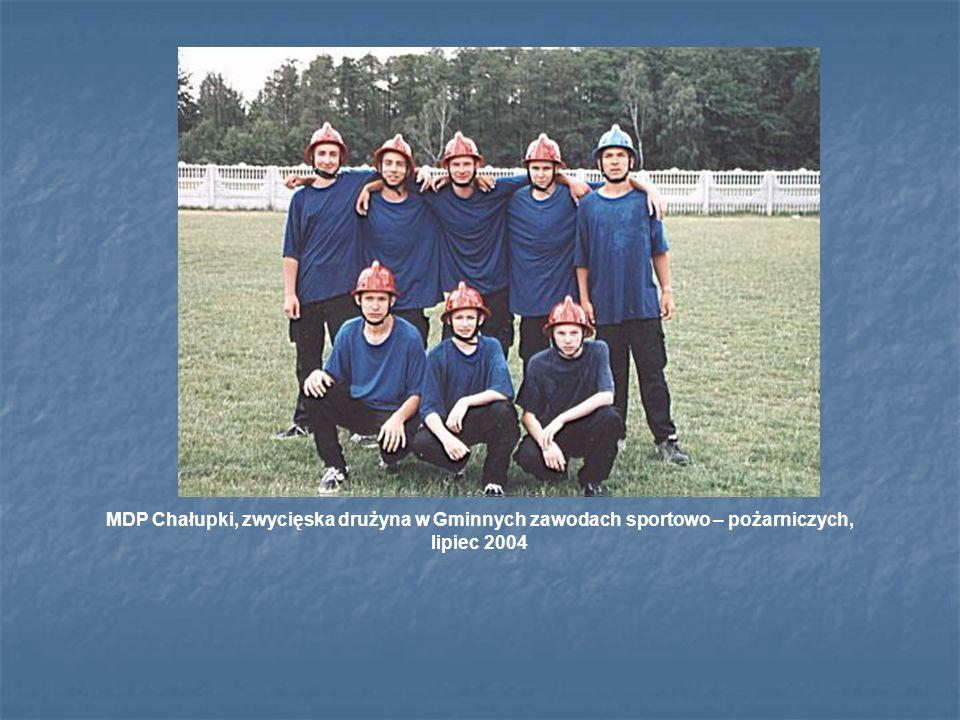 MDP Chałupki, zwycięska drużyna w Gminnych zawodach sportowo – pożarniczych, lipiec 2004