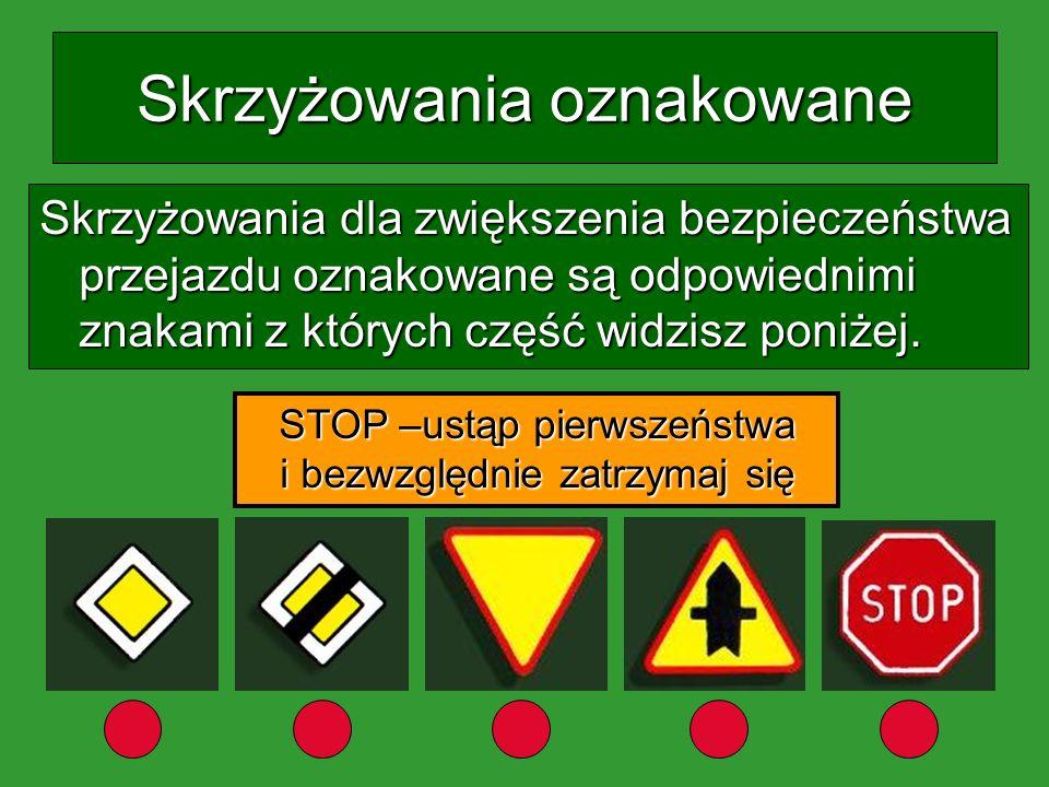 Zasady pierwszeństwa Skrzyżowania dróg oznakowane cz. 1