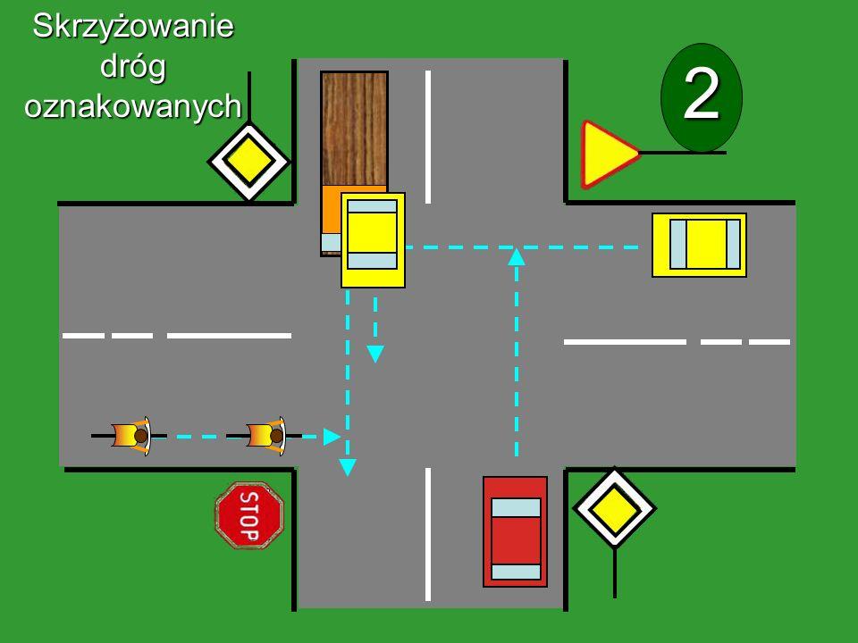 1 Skrzyżowanie dróg oznakowanych
