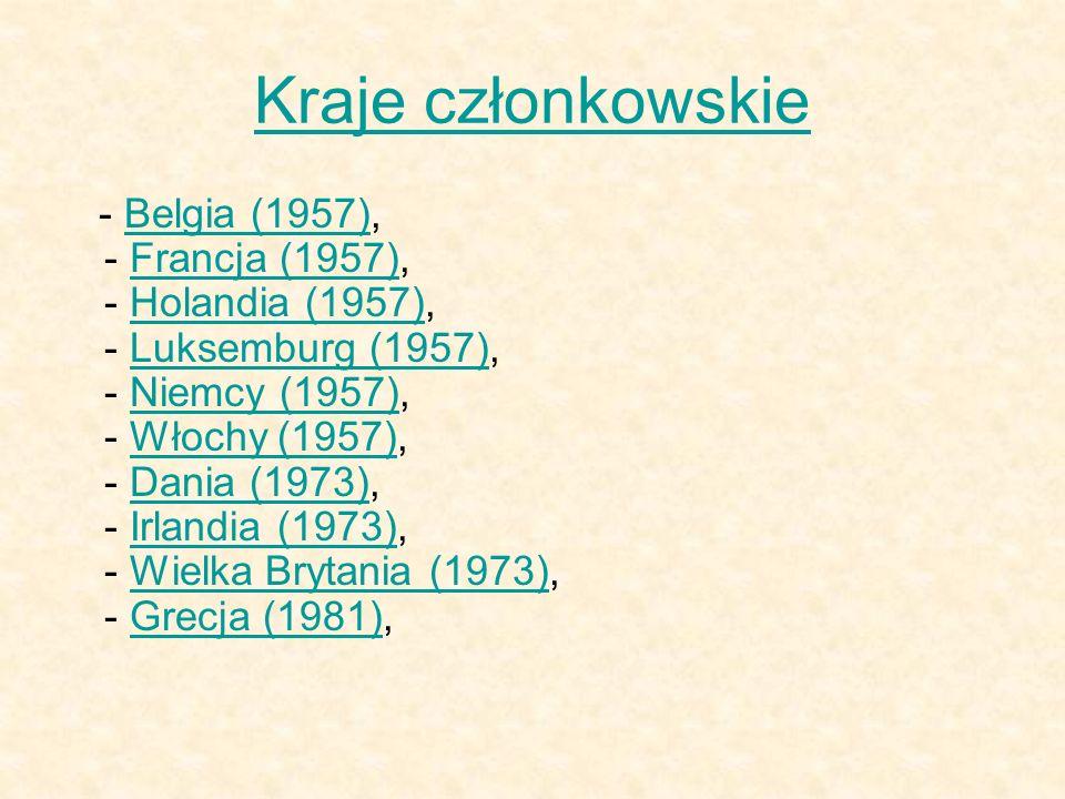Kraje członkowskie - Belgia (1957), - Francja (1957), - Holandia (1957), - Luksemburg (1957), - Niemcy (1957), - Włochy (1957), - Dania (1973), - Irla