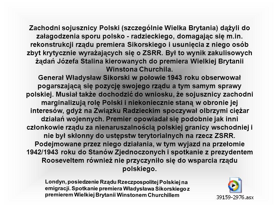 W kwietniu 1943 roku Niemcy ujawnili istnienie ogromnych zbiorowych grobów w Katyniu, w których spoczywali polscy oficerowie. Odnaleziono w ten sposób