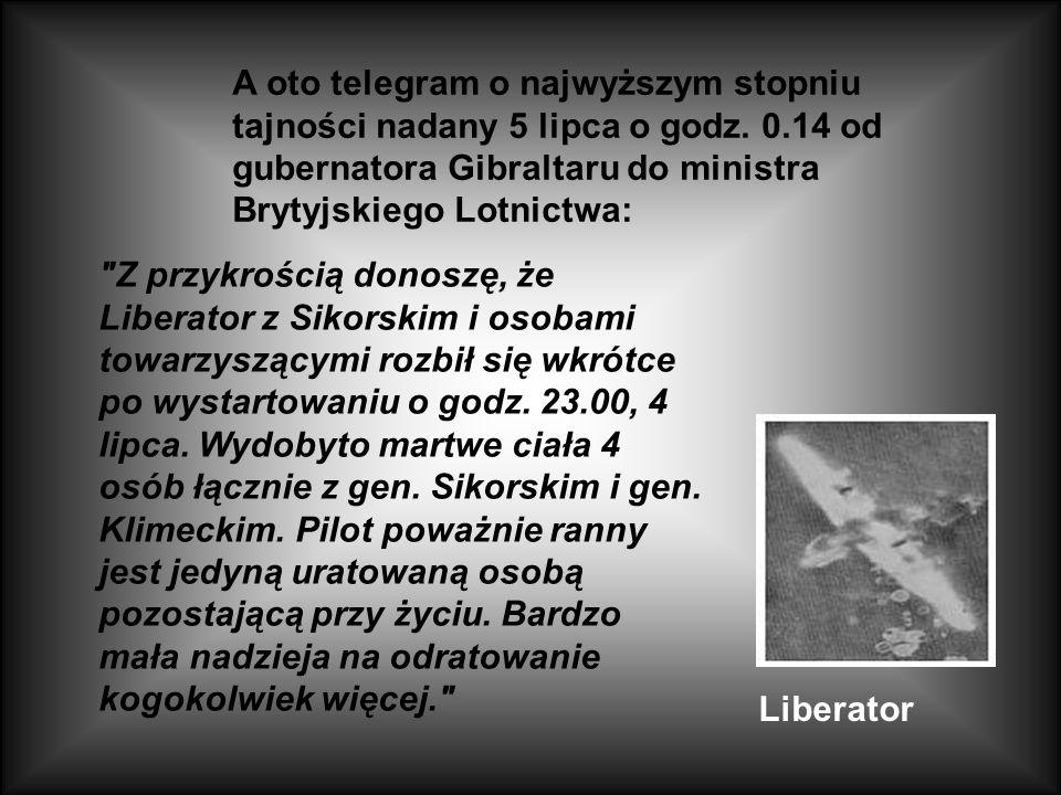 Gen. Sikorski Ostatnia ofiara Katynia 26 maja 1943 roku gen. Władysław Sikorski, ówczesny naczelny wódz i premier rządu polskiego na emigracji, udał s