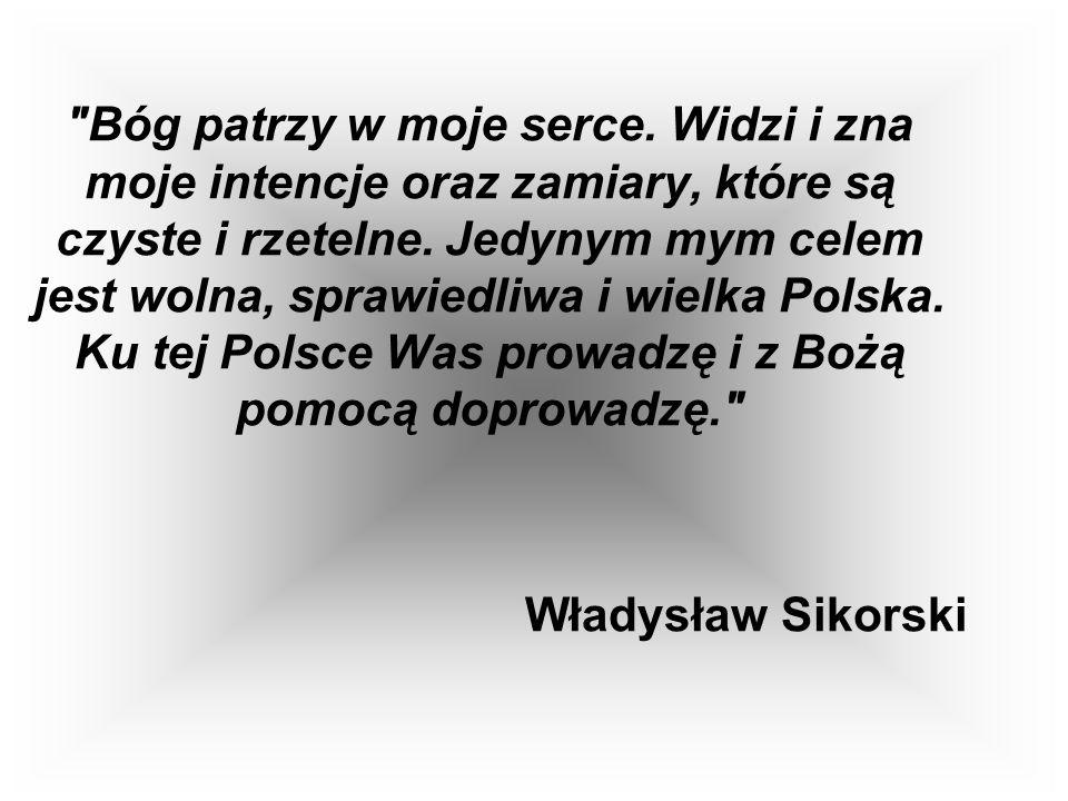 Władysław Sikorski (1881 - 1943), minister spraw wewnętrznych, wojskowych, premier w latach 1922 - 1923, 1939 - 1943, naczelny wódz Wojska Polskiego.