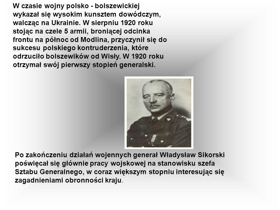 W czasie wojny polsko - bolszewickiej wykazał się wysokim kunsztem dowódczym, walcząc na Ukrainie.